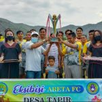 H. Firin Resmi Tutup Pertandingan Eksebisi Areta FC. Sahabat FC Juara Satu