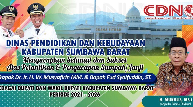 Ucapan Selamat Dari Dinas Pendidikan dan Kebudayaan Kabupaten Sumbawa Barat