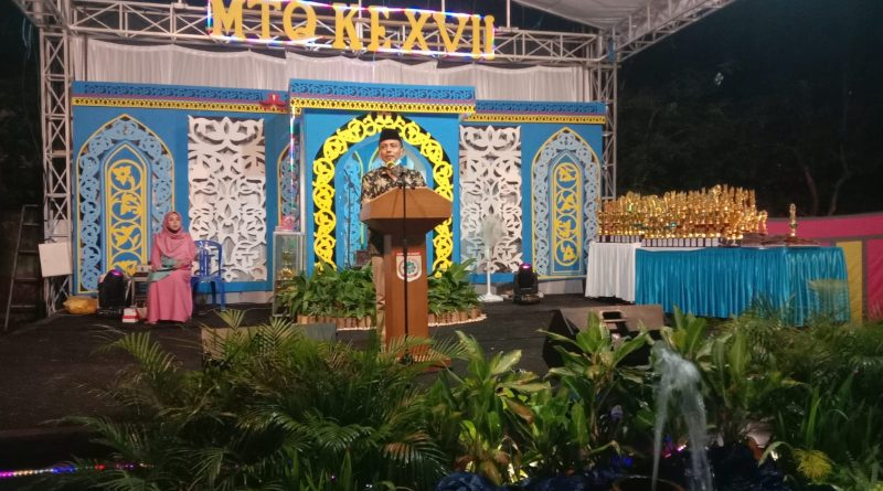 MTQ Ke XVII Tingkat Kecamatan Taliwang Resmi Ditutup, Camat Taliwang Sampaikan Hal ini